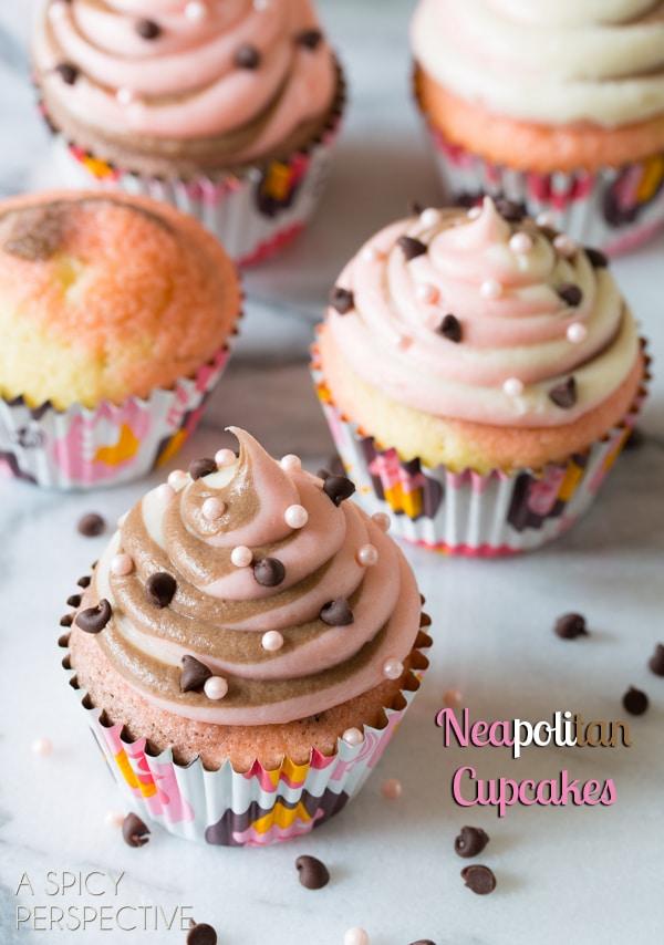 Neapolitan Cupcakes neapolitan cupcakes a spicy perspective