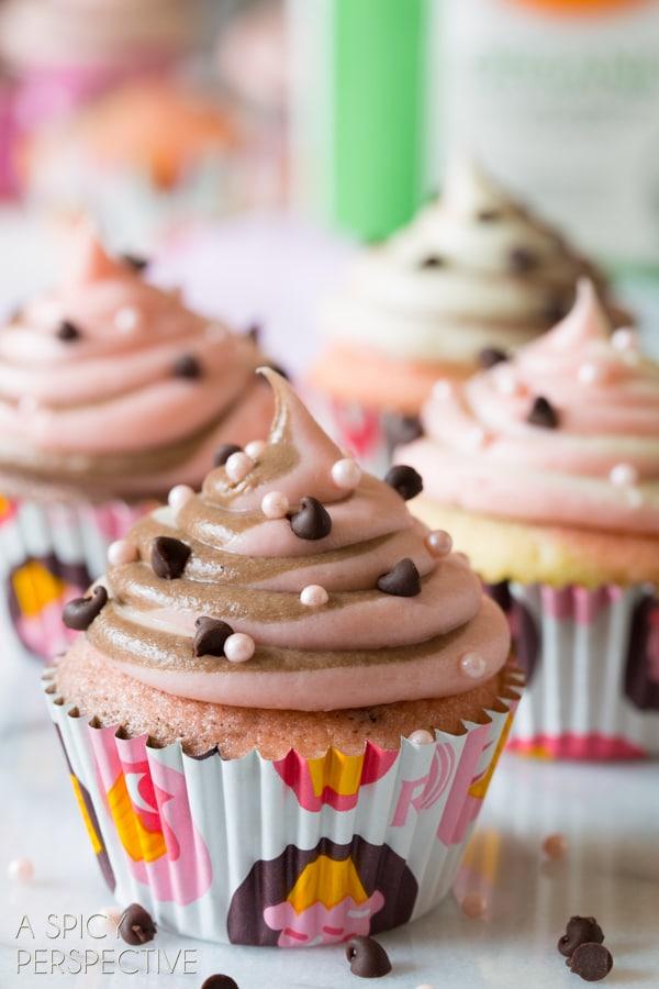 Easy Neapolitan Cupcakes! #spring #cupcakes #easter #neapolitan #cake