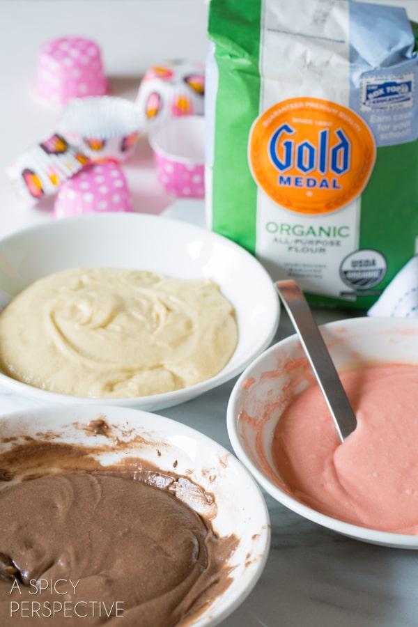 How to Make Neapolitan Cupcakes! #spring #cupcakes #easter #neapolitan #cake