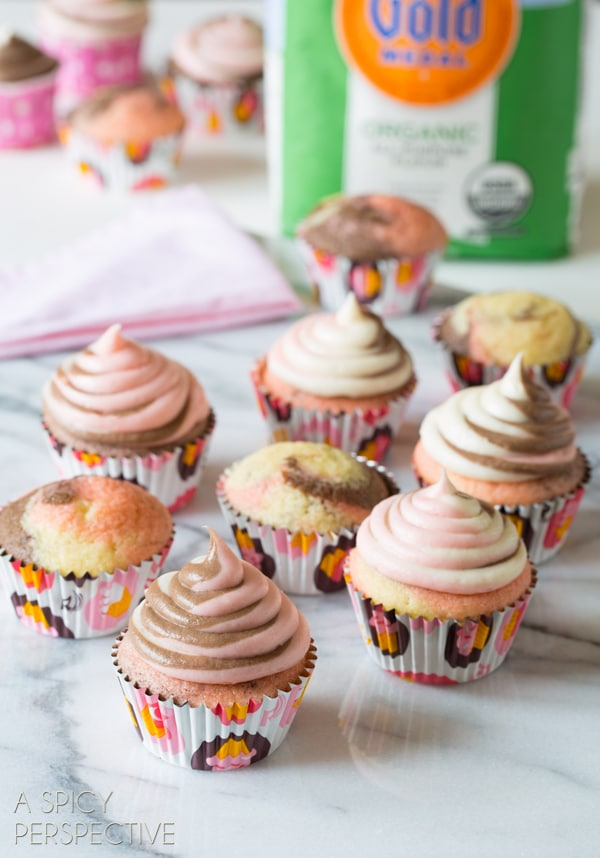 Awesome Neapolitan Cupcakes! #spring #cupcakes #easter #neapolitan #cake