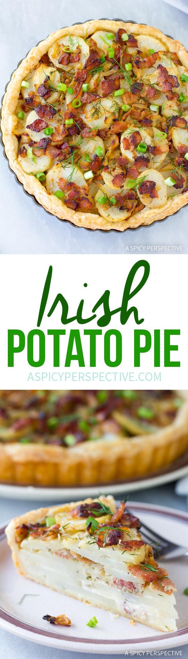 Amazing Irish Potato Pie Recipe #saintpatricksday