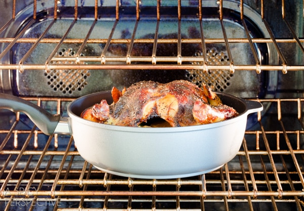 Roast Chicken Recipe with Honey Orange Gravy and Grilled Spring Veggies #dinner #chicken #recipe #giveaway