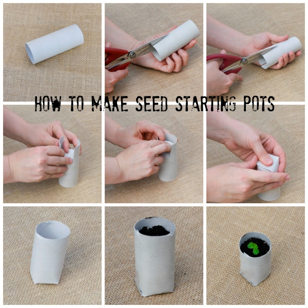 Starting Seeds Indoors - How to Make Seedling Pots #DIY #gardening #garden