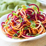 Raw Beet and Sweet Potato Salad