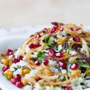 Vibrant Mediterranean Wild Rice Recipe with Pomegranate and Chickpeas #vegetarian #vegan