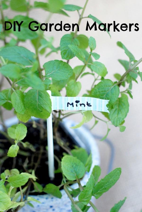 #DIY Garden Marker Tags #garden #gardening #seedlings #craft