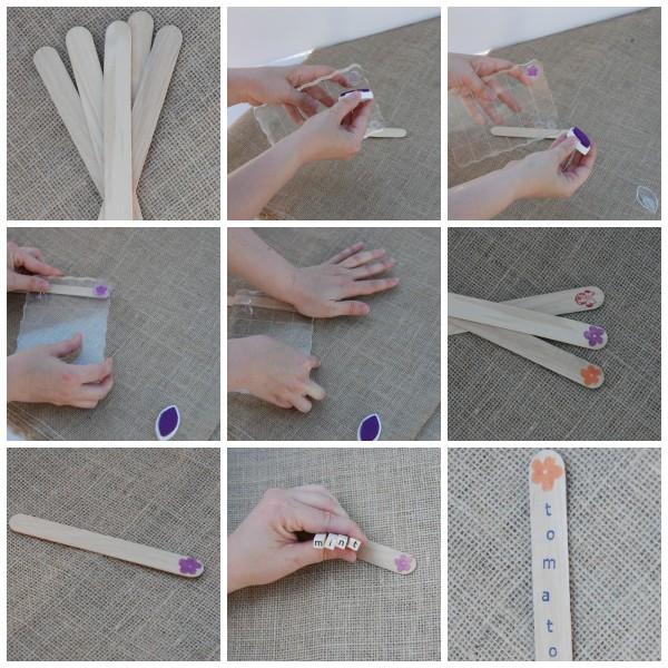 Pop Seed Marker -#DIY Garden Marker Tags #garden #gardening #seedlings #craft