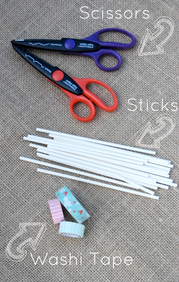 Washi Tape Tools -#DIY Garden Marker Tags #garden #gardening #seedlings #craft