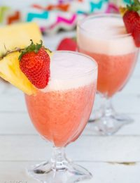 Easy Agua Fresca with Strawberries and Pineapple #cincodemayo #aguafresca #mexican #mocktails