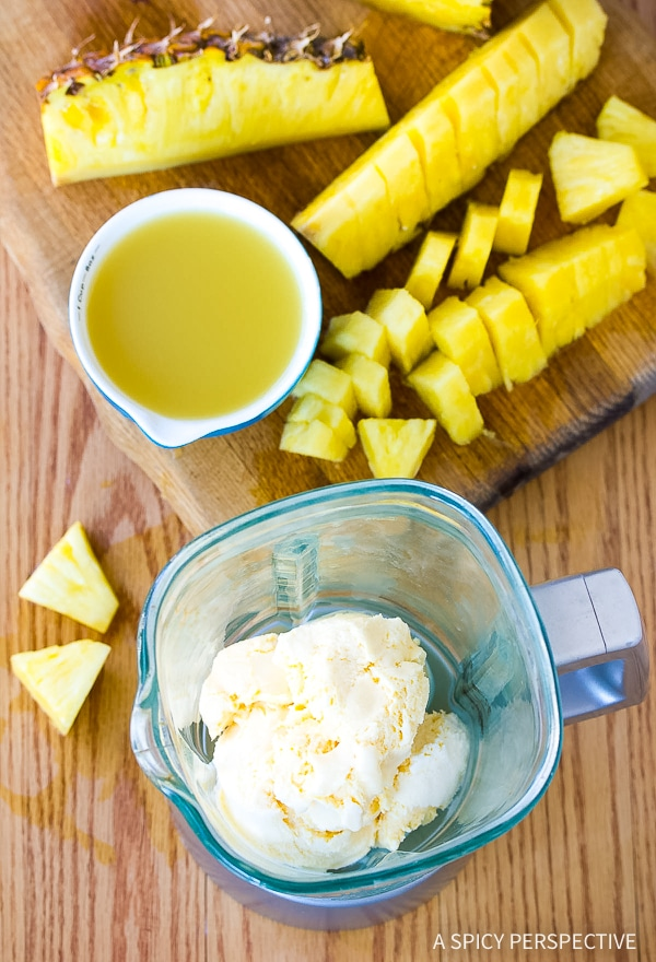 3-Ingredient Fresh Pineapple Milkshake Recipe