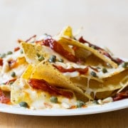 Amazing 5 Minute Fancy Nachos - a great way to use up leftovers! #nachos #fancy