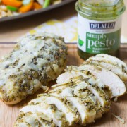 Amazing 3 Ingredient Pesto Chicken #dinner #chicken #pesto #delallofoods