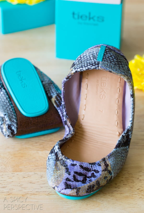 Gorgeous Tieks Ballet Flats #Giveaway on ASpicyPerspective.com #shoes #fashion #spring