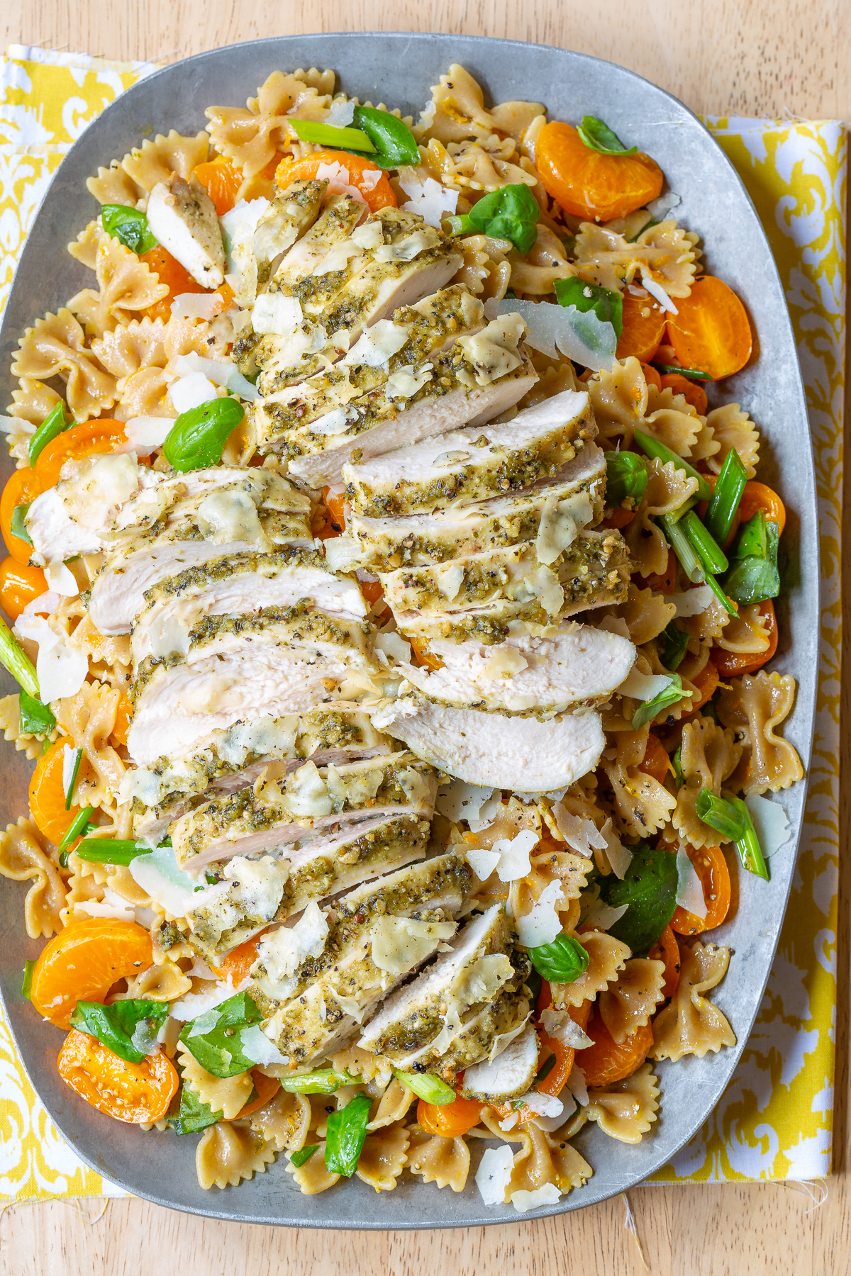 Pesto Chicken with Parmesan Crust