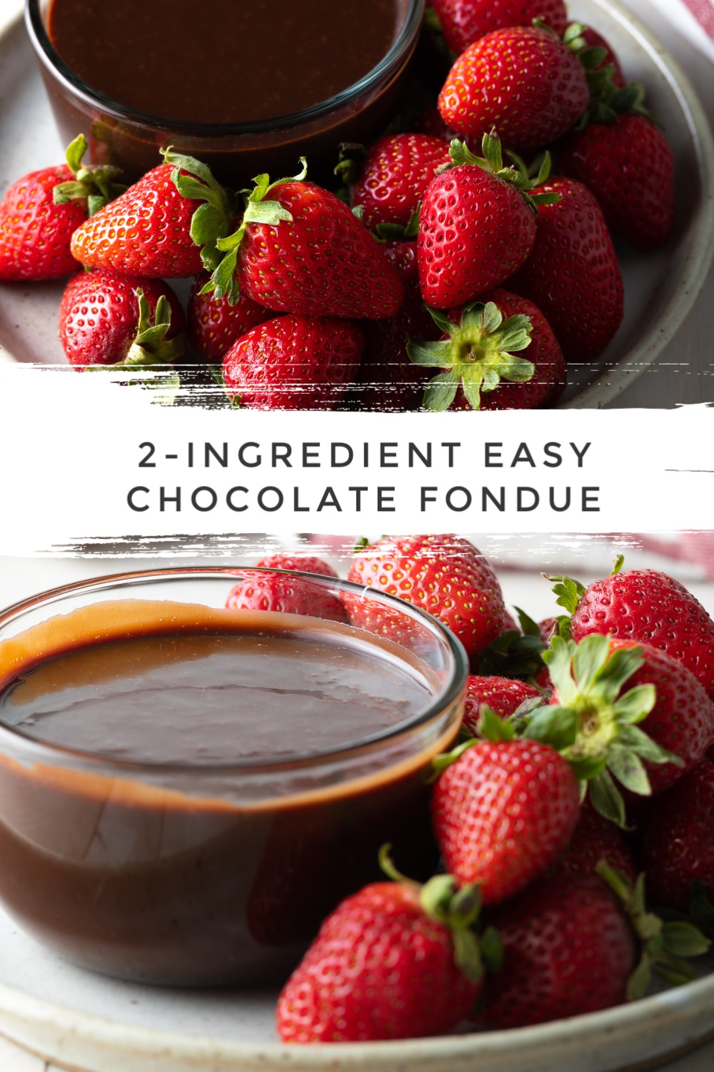 Easy Chocolate Fondue Recipe #ASpicyPerspective #chocolate #fondue #nutella #valentinesday #christmas #holiday #newyears