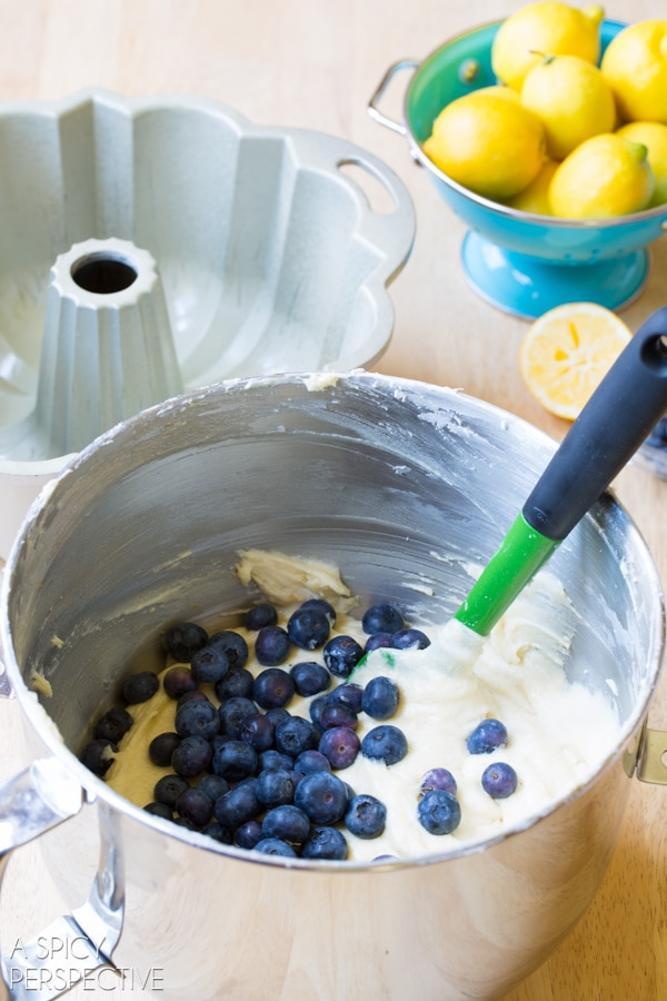 Making Blueberry Cake #blueberry #summer #cake #bundtcake #blueberrymuffin