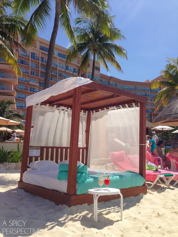 Beach Day Bed - Cancun Mexico - Travel Tips #mexico #cancun #vacation #travel