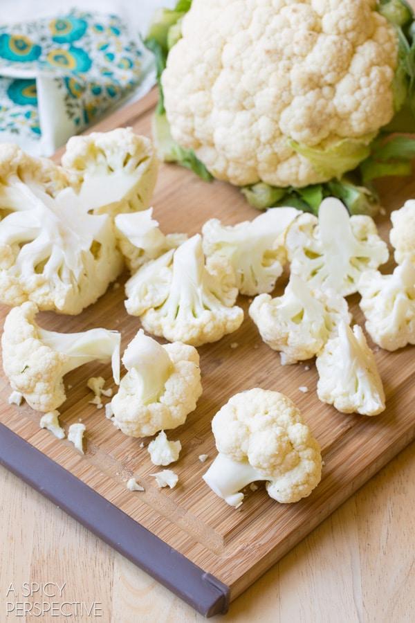 Making Roasted Cauliflower Rice! #GrainFree #Paleo #GlutenFree #cauliflower