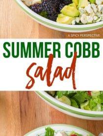 Fresh Summer Cobb Salad Recipe with Creamy Garlic Lime Vinaigrette