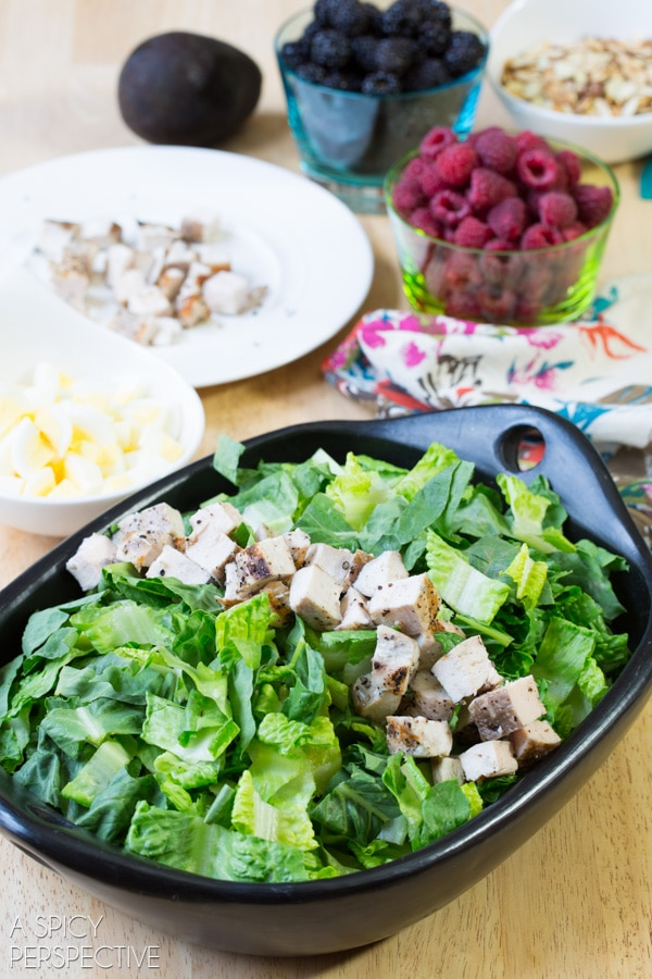 Summer Cobb Salad! #salad #cobbsalad #summer #berries
