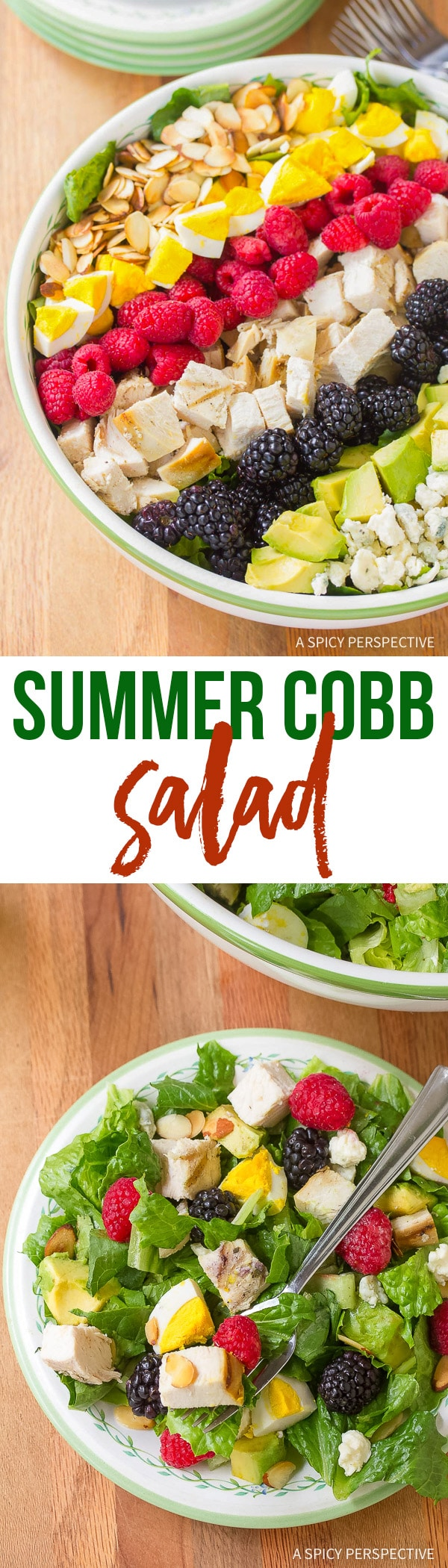 Fresh Summer Cobb Salad Recipe with Creamy Garlic Lime Vinaigrette