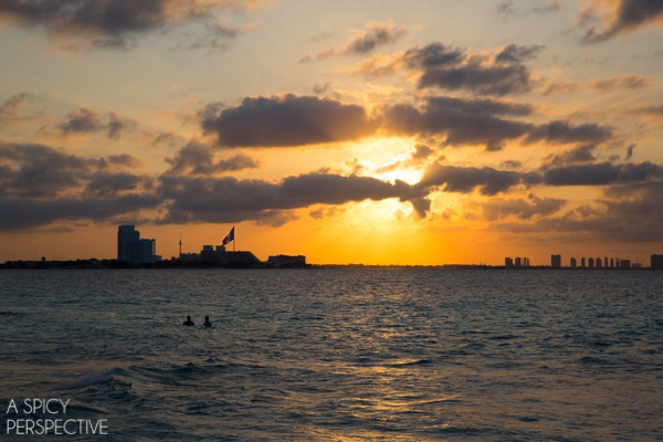 Sunset - Cancun Mexico - Travel Tips #mexico #cancun #vacation #travel