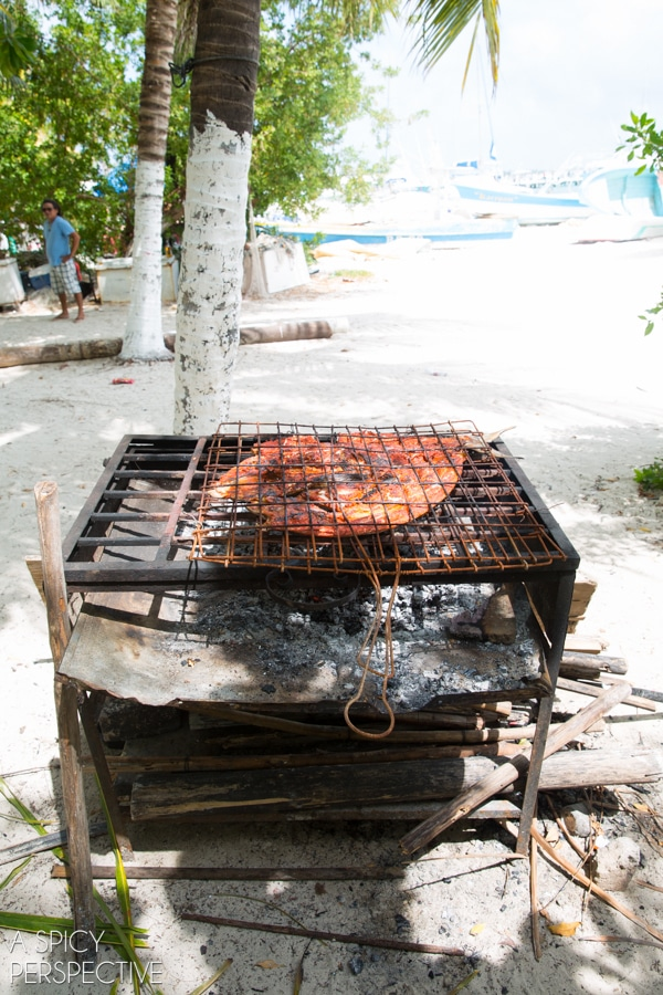 Grilling Fish - Cancun Mexico - Travel Tips #mexico #cancun #vacation #travel