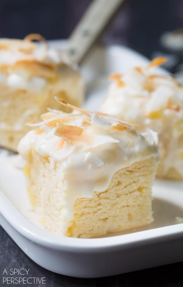 Pina colada cake recipe with cream cheese frosting