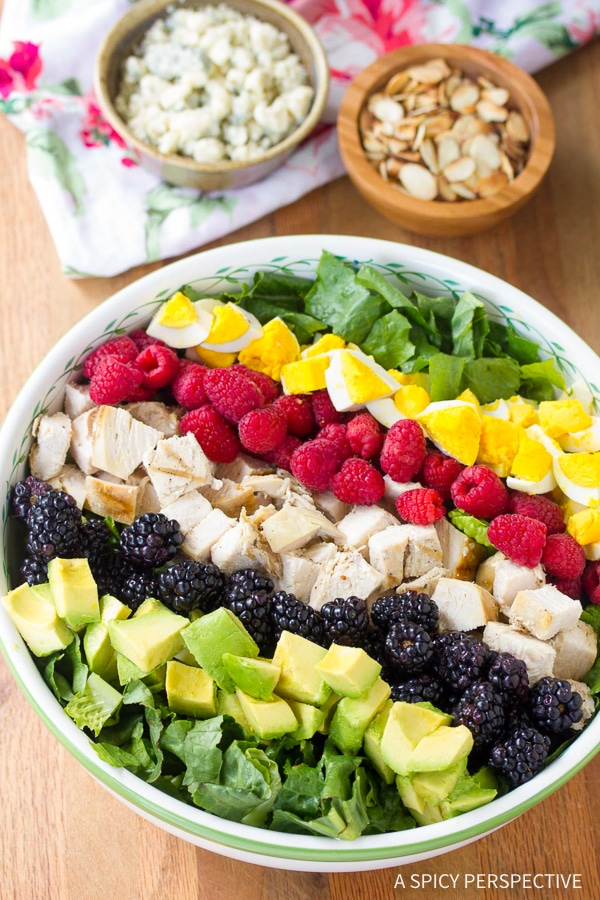 Making the Best Summer Cobb Salad Recipe with Creamy Garlic Lime Vinaigrette