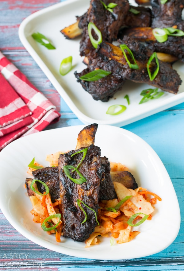 Swoon! Asian Beef Ribs Recipe on ASpicyPerspective.com #ribs #grilling #summer #AppleButterSpin