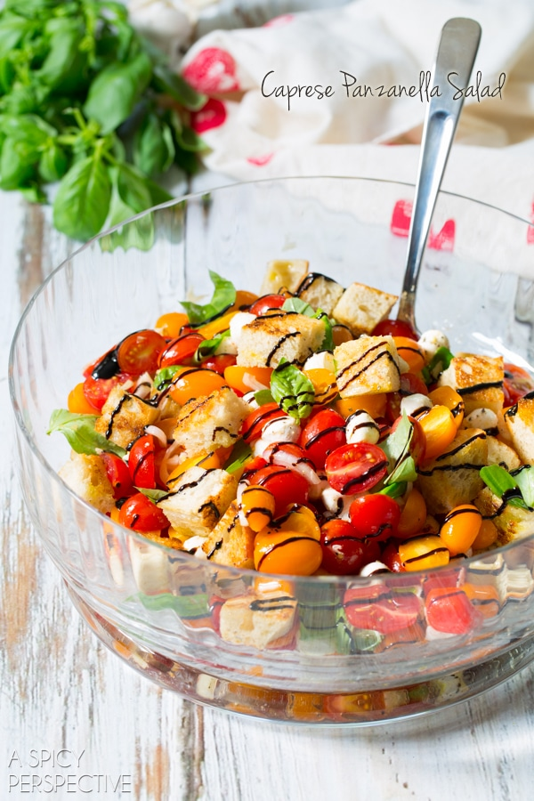 Simple Caprese Panzanella #Salad #italian #summer