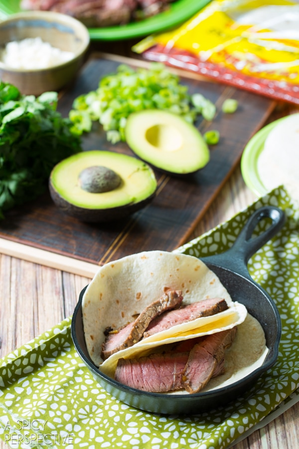 Simple Green Chile Steak Tacos #tacos #steak #mexican