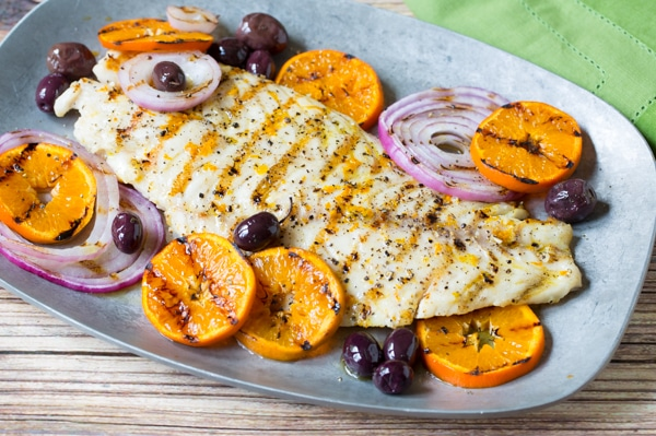Grilled Grouper With Oranges And Olives