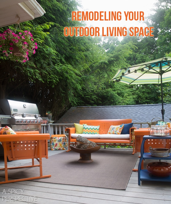 Remodeling Your Outdoor Living Space #giveaway #diy #home