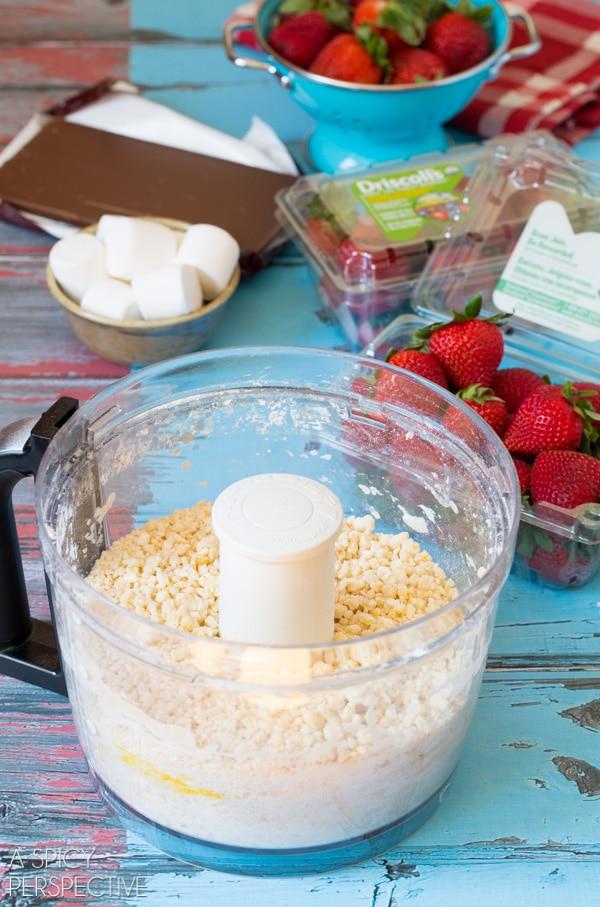 Making S'mores Strawberry Shortcake Recipe #smores #summer #strawberryshortcake