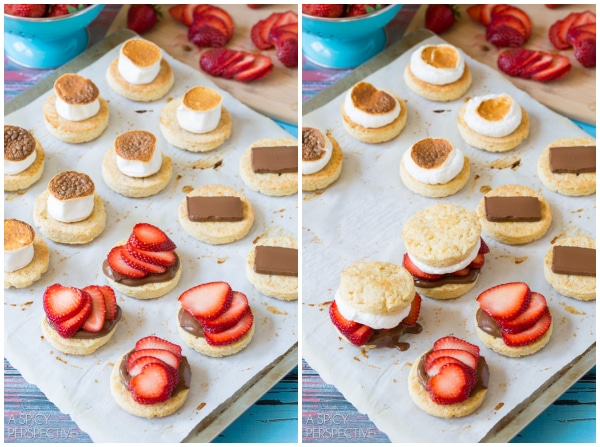 Amazing S'mores Strawberry Shortcake Recipe #smores #summer #strawberryshortcake