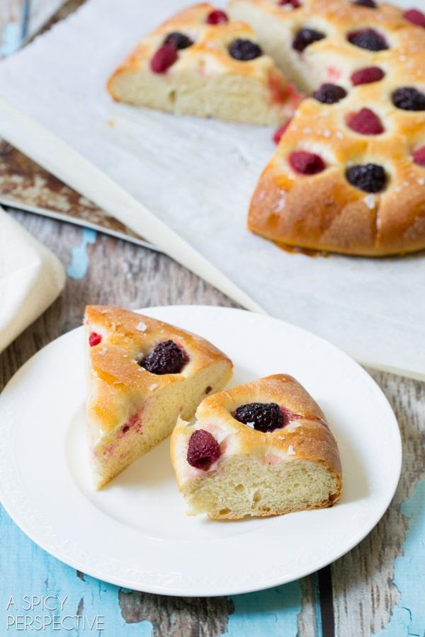 Savory Sweet Berry Focaccia #bread #focaccia #italian #berries