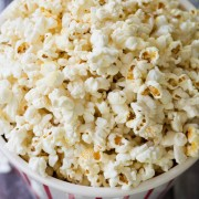 Homemade Kettle Corn Recipe on ASpicyPerspective.com #kettlecorn #popcorn