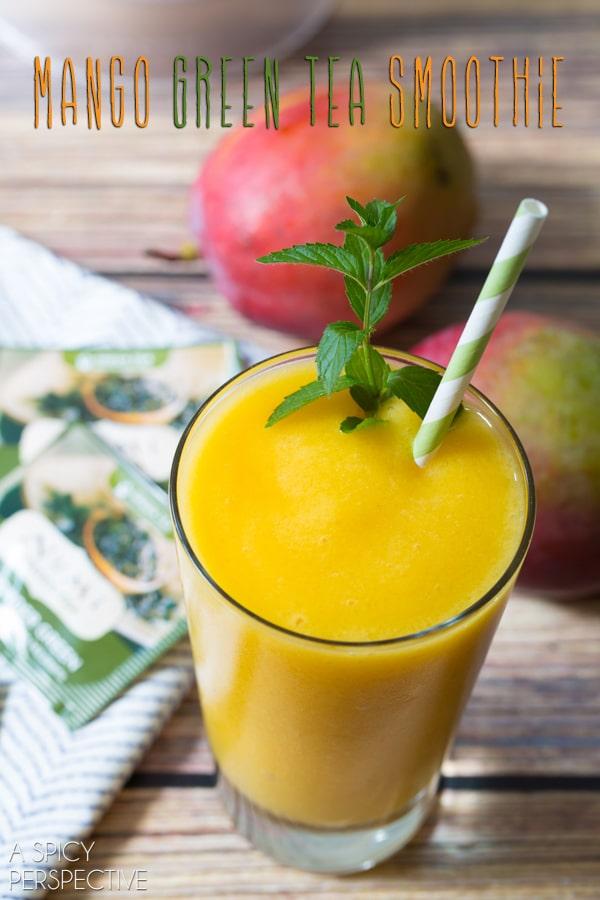 Mango Smoothie with Green Tea! #smoothie #greentea