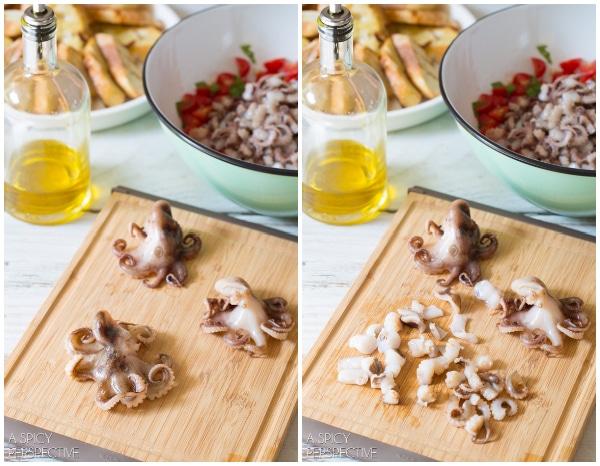 Easy Grilled Octopus Bruschetta #italian #bruschetta