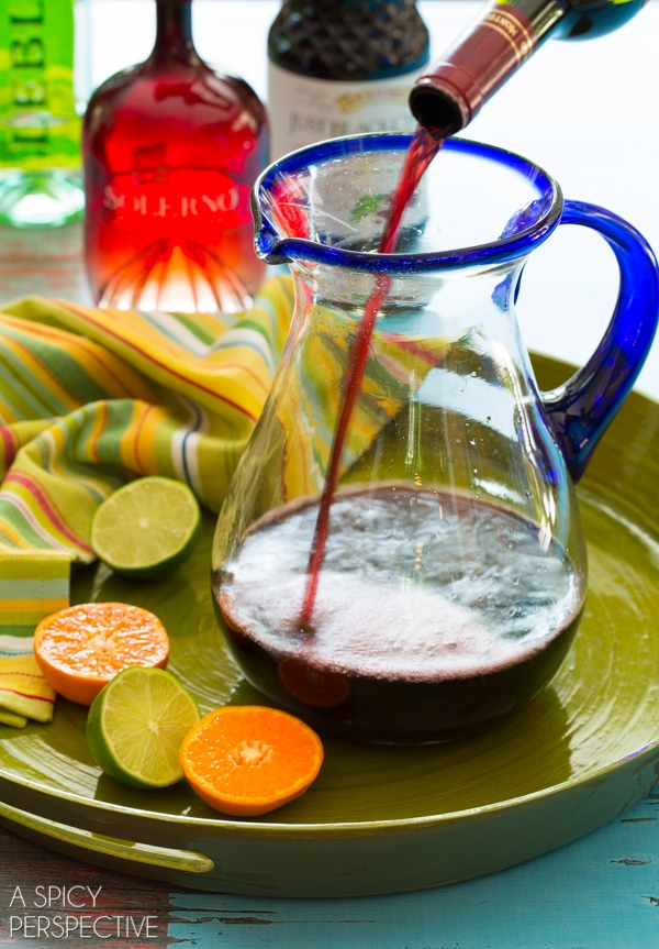 Red Sangria Recipe #sangria #summer #wine
