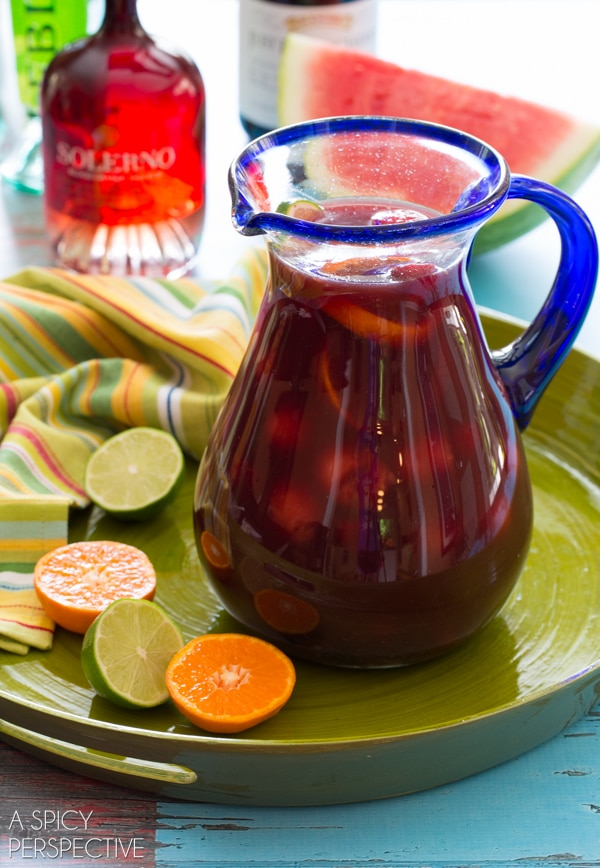 Fruity Red Sangria Recipe #sangria #summer #wine