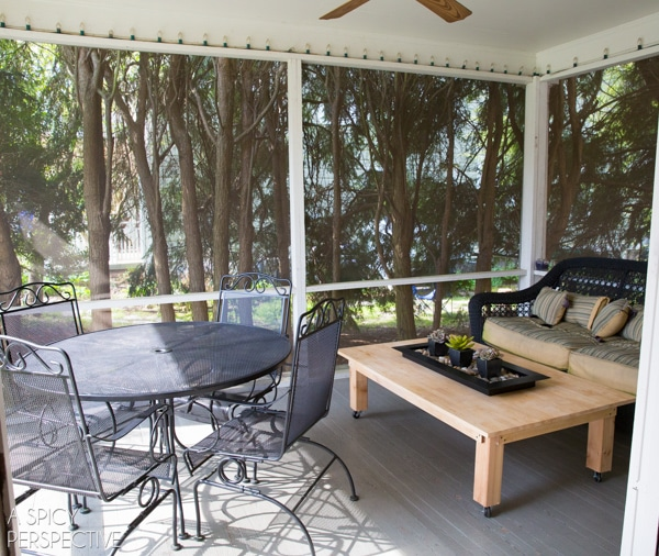 {Before} Screened In Porch Ideas   Making The Most Of A Small Budget.