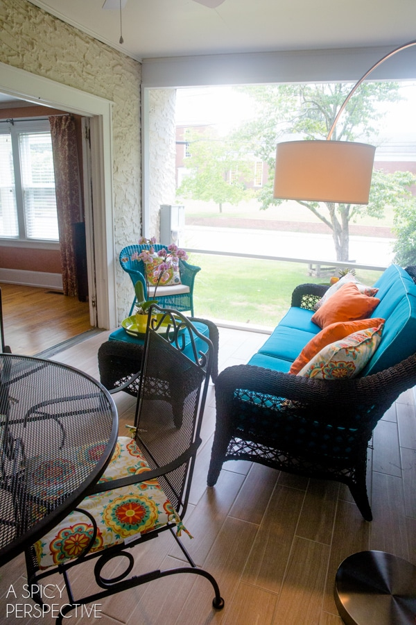 Simple Screened In Porch Ideas - Making the Most of a Small Budget. #diy #remodel #outdoorliving