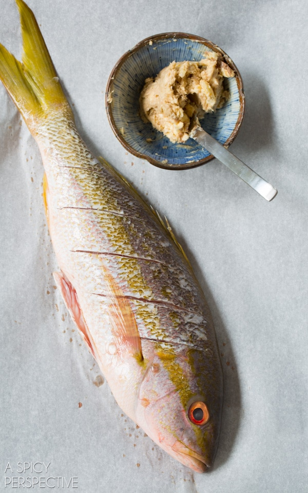 How To: Snapper Recipe - Whole Roasted Snapper with Anchovy Butter and Herbs #bakedfish #snapperrecipe