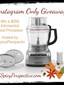 Instagram Giveaway on ASpicyPerspective.com