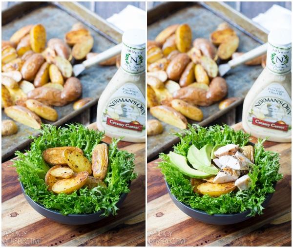 Tonight's Dinner: Southwest Chicken Caesar Salad #chicken #salad