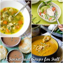25 Sensational Soups for Fall on ASpicyPerspective.com #soup