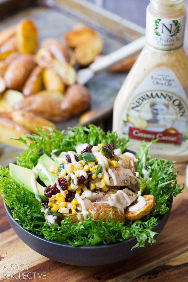 Our Favorite Southwest Chicken Caesar Salad #chicken #salad