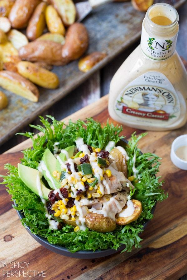 Amazing Southwest Chicken Caesar Salad #chicken #salad